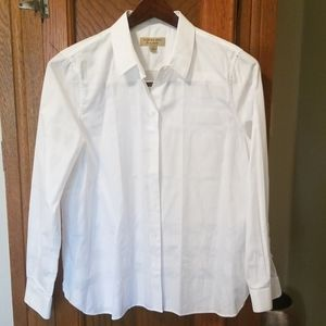White Burberry button down